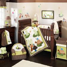 cool nursery bedding sets jungle theme with brown and white nursery