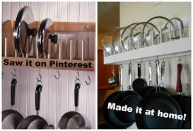 wall mounted pot rack inspirational diy project pot rack with lid storage young wife chronicles