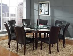 gl dining table set 6 chairs beautiful round gl dining table for 6 modern room tables