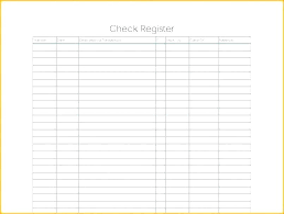 Free Download Check Register Sample Blank Ledger Template Cash Register Free Download