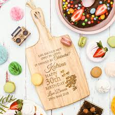 personalised birthday chopping board