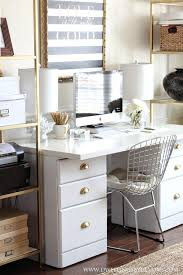 shabby chic office ideas. Chic Office Design Awesome Shabby Ideas White Black Gold Modern Small Decor