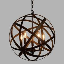 orb light fixture. Metal Orb Chandelier Light Fixture World Market