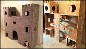 cat safe furniture. Indoor Cat Furniture Castles To Keep Your Busy Tree Safe