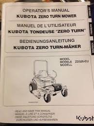used zero turn mower zeppy io kubota zd326 eu zero turn mower operators manual handbook