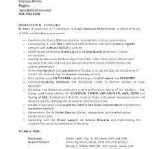 Oracle Dba Cv Sample Oracle Dba Resume Cover Letter Cover Letter For Oracle Cover