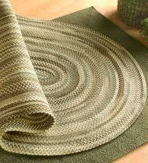 bear creek oval braided wool blend rug 2 x
