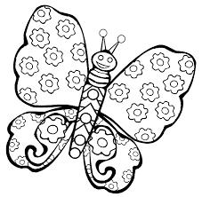 Farfalla Con Tema Margherite Disegno Per Bambini Disegni Da