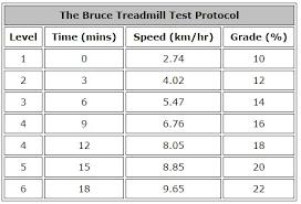 V02 Max Test Chart