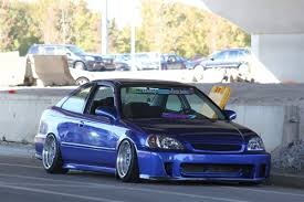 BYS Style Civic Bumper Fiberglass  Carbon Fiber Lip 9900Backyard Special Bumper