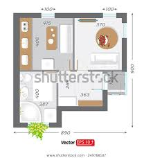 Part Architectural Project Ground Floor Plan Royalty Free