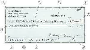 Personal Check Payments University Housing Uw Madison