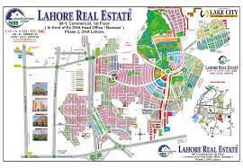 lake city lahore map