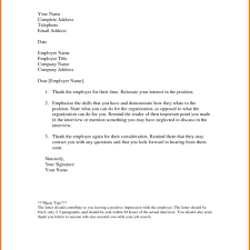Job Interview Letter Thank You