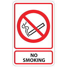 plastic no smoking sign pse 0020 the home depot