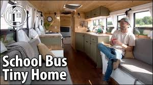 bus conversion bees his off grid travel home