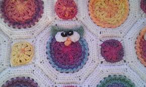 Crochet Owl Blanket Pattern Free Simple Owl Obsession Crochet Blanket My Wide Eyed World