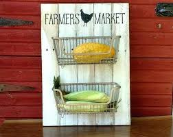 fruit and vegetable holder produce wall holder wire basket fruit and vegetable storage countertop fruit and