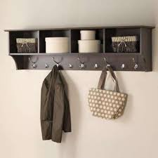 Wall Mounted Coat Rack Home Depot Fascinating Composite Coat Racks Entryway Furniture The Home Depot