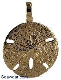 sparkling keyhole sand dollar necklace pendant