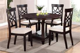 dark wood round dining table terrific minimalist black