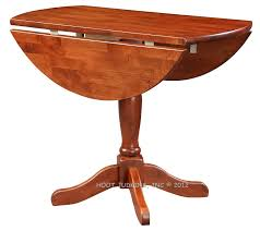 solid alder wood 36 drop leaf round kitchen table in glazed antique cherry