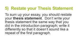 5 paragraph essay structure brought to you by powerpointpros com 5 restate your thesis statement to sum up your essay you should restate your