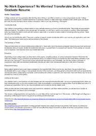 Resume With Too Many Jobs Resume No Experience Skills Fresh Work Experience Resumes Hvac 33
