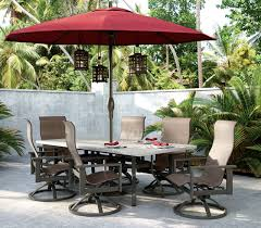 Outdoor Patio Furniture Umbrellas Collection 9 Octagon Dining For