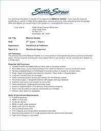 Warehouse Job Description For Resume Artemushka Com