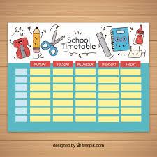 school schedule template school timetable template with school elements vector free download