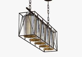 restoration hardware rope filament rectangular chandelier copy