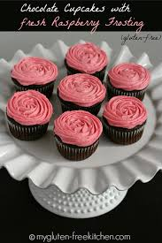 chocolate cupcakes with pink icing recipe. Modren Recipe Glutenfree Chocolate Cupcakes With Fresh Raspberry Frosting To With Pink Icing Recipe L