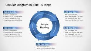 Arrow Ring Chart Powerpoint Circular Arrows 5 Steps Powerpoint Diagram Slidemodel