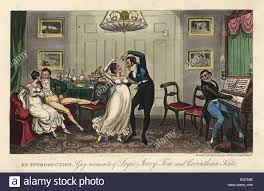 english georgian dandy and belle dancing a waltz while a man plays the piano in a parlour an introduction moments of logic jerry tom and corinthian