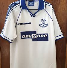 This authentic everton away football jersey is in stock. Retro Everton Away Shirt 98 99 Retro Classic Depop