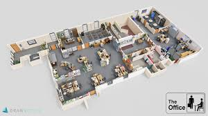 The office floor plan Office Break Room 3d Floorplan Of The Office Reddit 3d Floorplan Of The Office Dundermifflin
