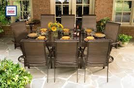 La Z Boy Bedroom Furniture La Z Boy Outdoor Dben 10pc Tristan 10 Pc Dining Set With