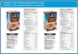 quaker maple brown sugar instant oatmeal