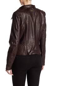 vince camuto asymmetrical zip genuine lamb leather moto jacket nordstrom rack