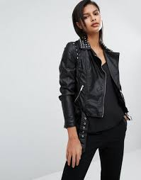 vero moda studded leather look biker jacket black women jackets vero moda jackets entire collection