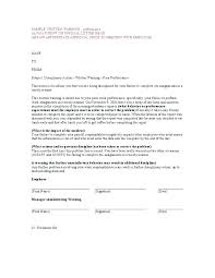 How To Write Up A Written Warning For An Employee First Warning Letter For Poor Performance Improvement Employee Plan