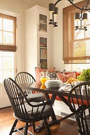 image breakfast nook september decorating. Transitional Dining Room Seat Cushions With Grey Together Dark Wooden Table For Cozy Space Image Breakfast Nook September Decorating