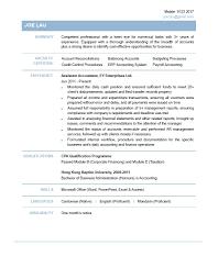 Gallery Of Accountant Curriculum Vitae