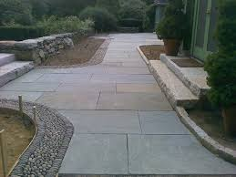 Innovation Natural Patio Stones Cobbled Edge Created With Cleft Pattern Inside Concept Design