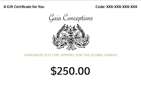 Holiday Gift Certificate Gaia Gift Certificate Great Holiday Gift Gaia Conceptions