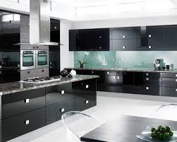 Small Kitchen Black Cabinets Black Side By Side Refrigerator Subway Tile Backsplash Granite