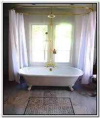 interesting clawfoot bathtub shower curtain rod modern