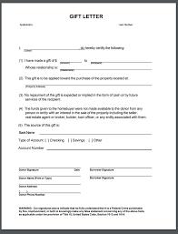 gift letter form