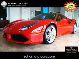 2018 used ferrari 488 gtb coupe at excell auto group serving boca raton, fl, iid 20233304. Used Ferrari 488 For Sale In Houston Tx Cargurus
